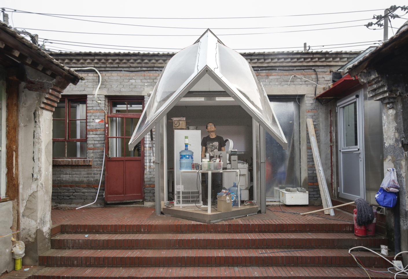 Courtyard Plug-In House by Peoples Architecture Office in Dashilar Hutong, Beijing