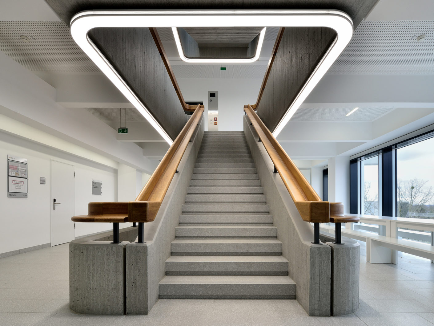 Sacred staircase: The staircase is almost sacred with the light of Ado Lights.