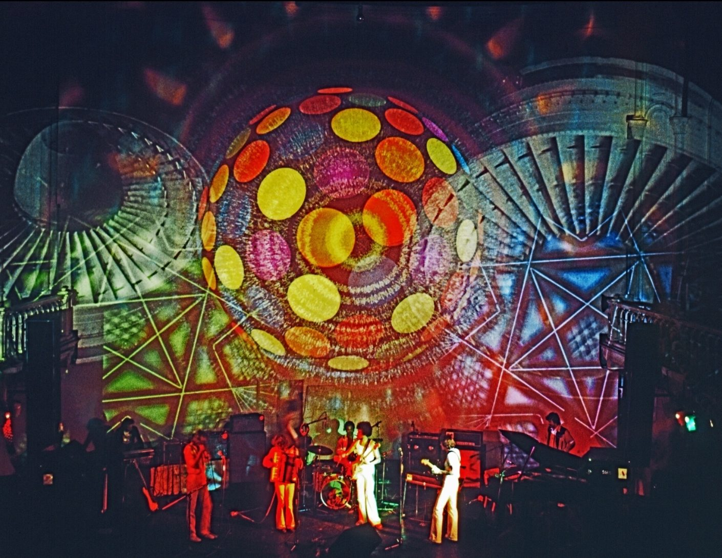 Lightshow at the youth center Paradiso (circa 1970)