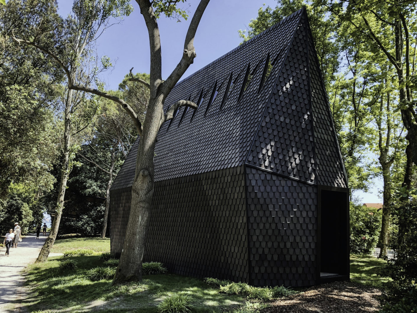 The Asplund Pavilion documents the Skogskappellet, which served as inspiration for the architects involved in the Biennale project.