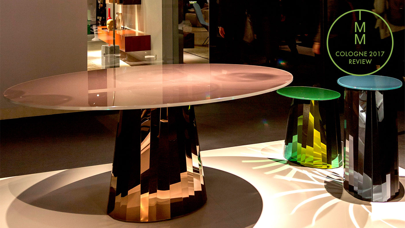 "At Classicon they know the business with mirrors  – as like as at the new ""Pli"" table by Victoria Wilmotte shows."