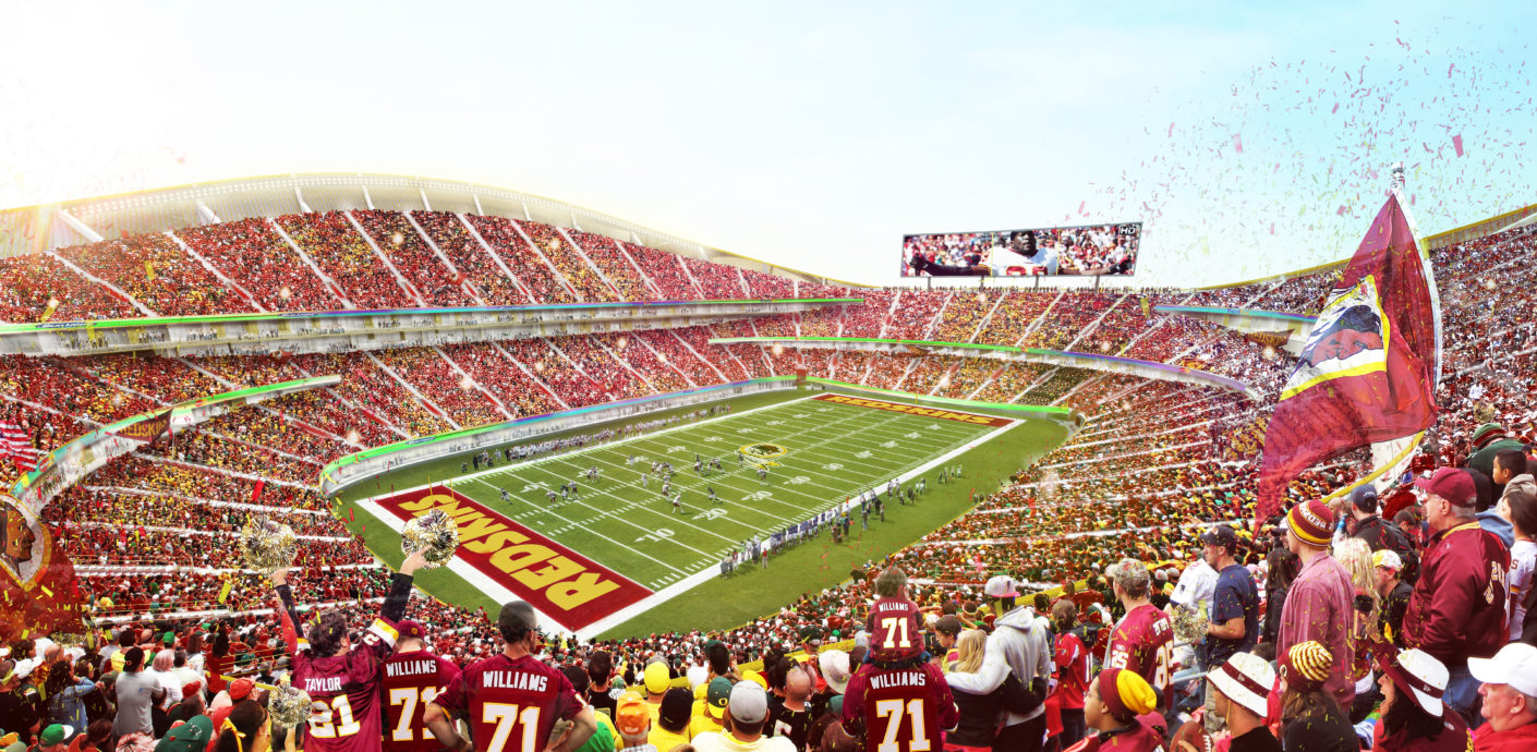 Stadion der Washington Red Skins, Entwurf von BIG