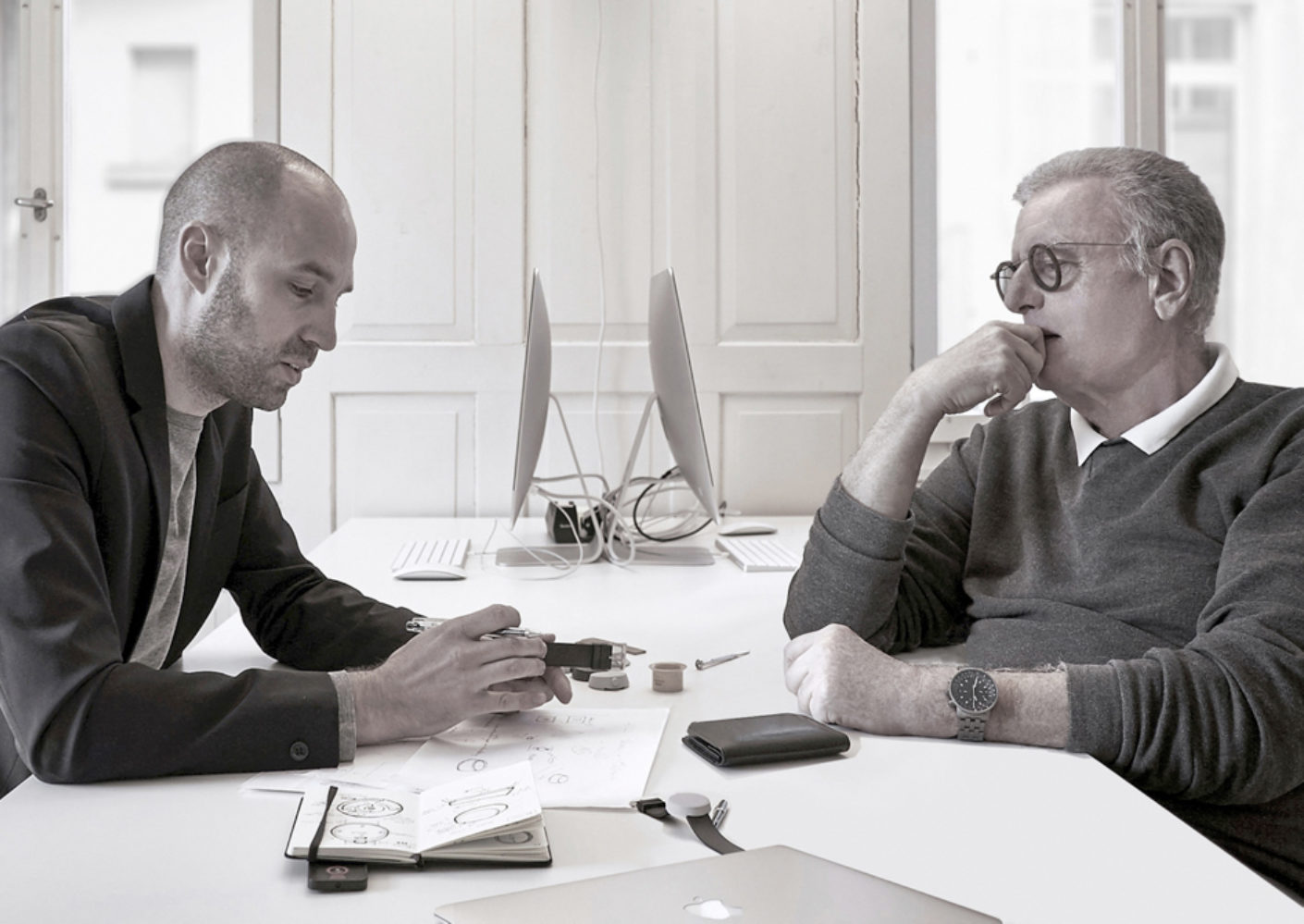 Designer Simon Husslein (left) and entrepreneur Pierre Nobs (right).