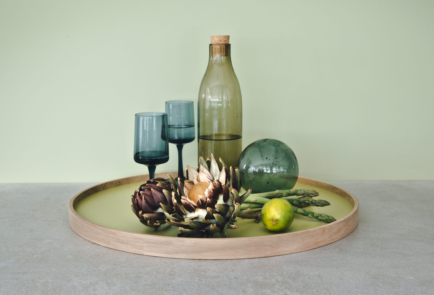 "The top of Hans Bølling's ""Serving Tray 50"" is made of laminate and available in several colours."