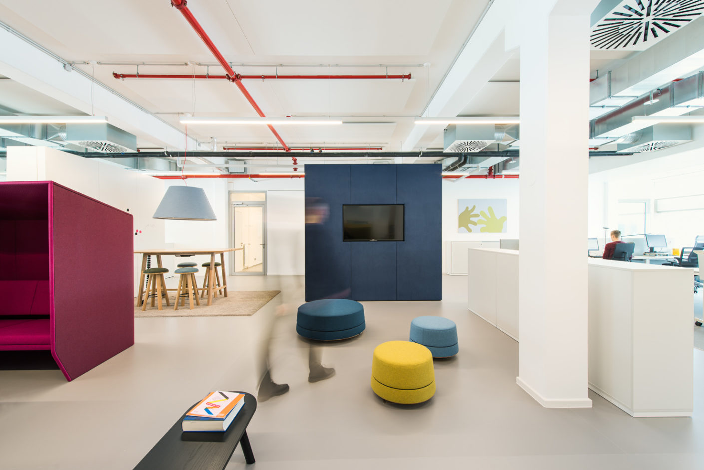 Sam and Planktons Architects divided into Buzzispace's products into functional areas.
