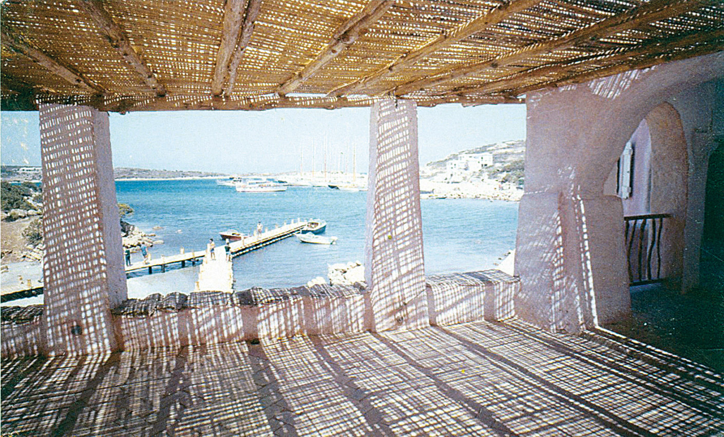 Restaurant terrace in the centre of Porto Cervo (photo c. 1965)