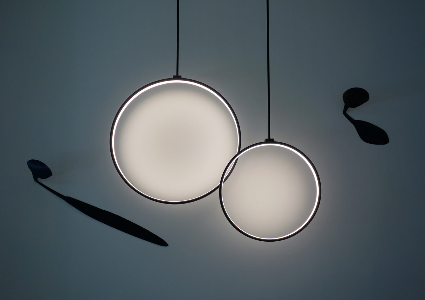 "The finished product could be seen in the Delta Light showroom - like the ""Superloop"" luminaire."