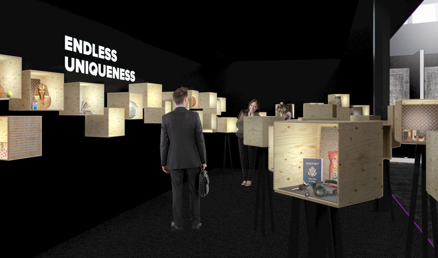 "Diverse: Inside 50 mirror boxes, interior designers, architects, artists and other creatives present their vision of ""Endless Uniqueness""."