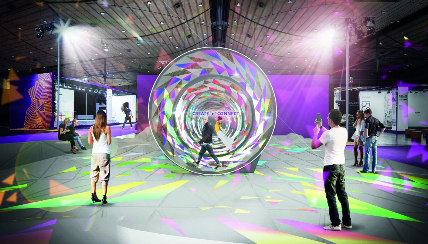 "The ""Creativity Wheel"" is one visitor attraction at Domotex 2019."