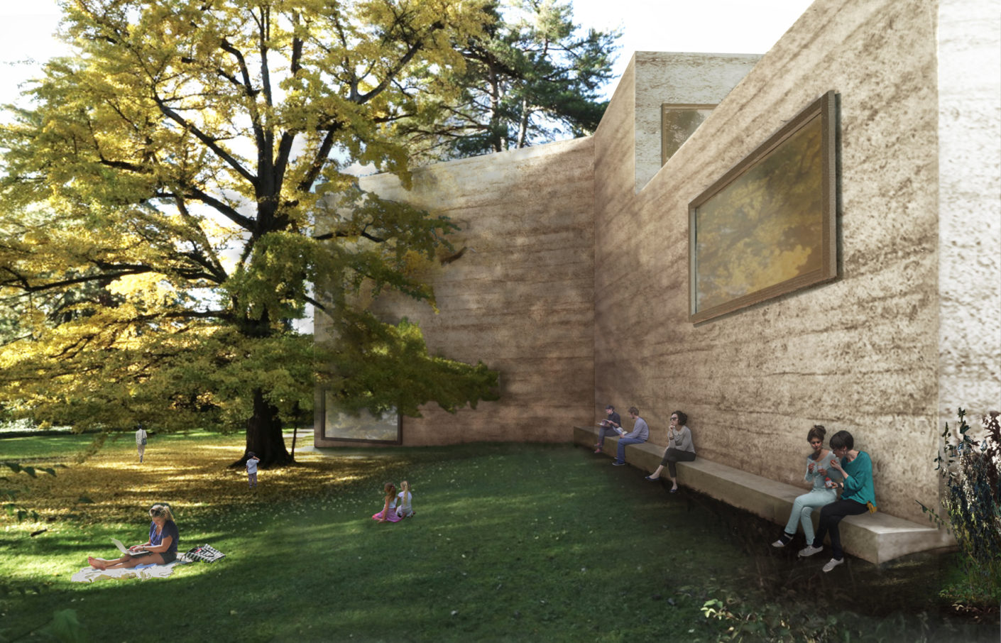 "A ""house for art"" made of pounding concrete. Of the three new buildings, designed by Peter Zumthor for the Fondation Beyeler, it is the central and largest."