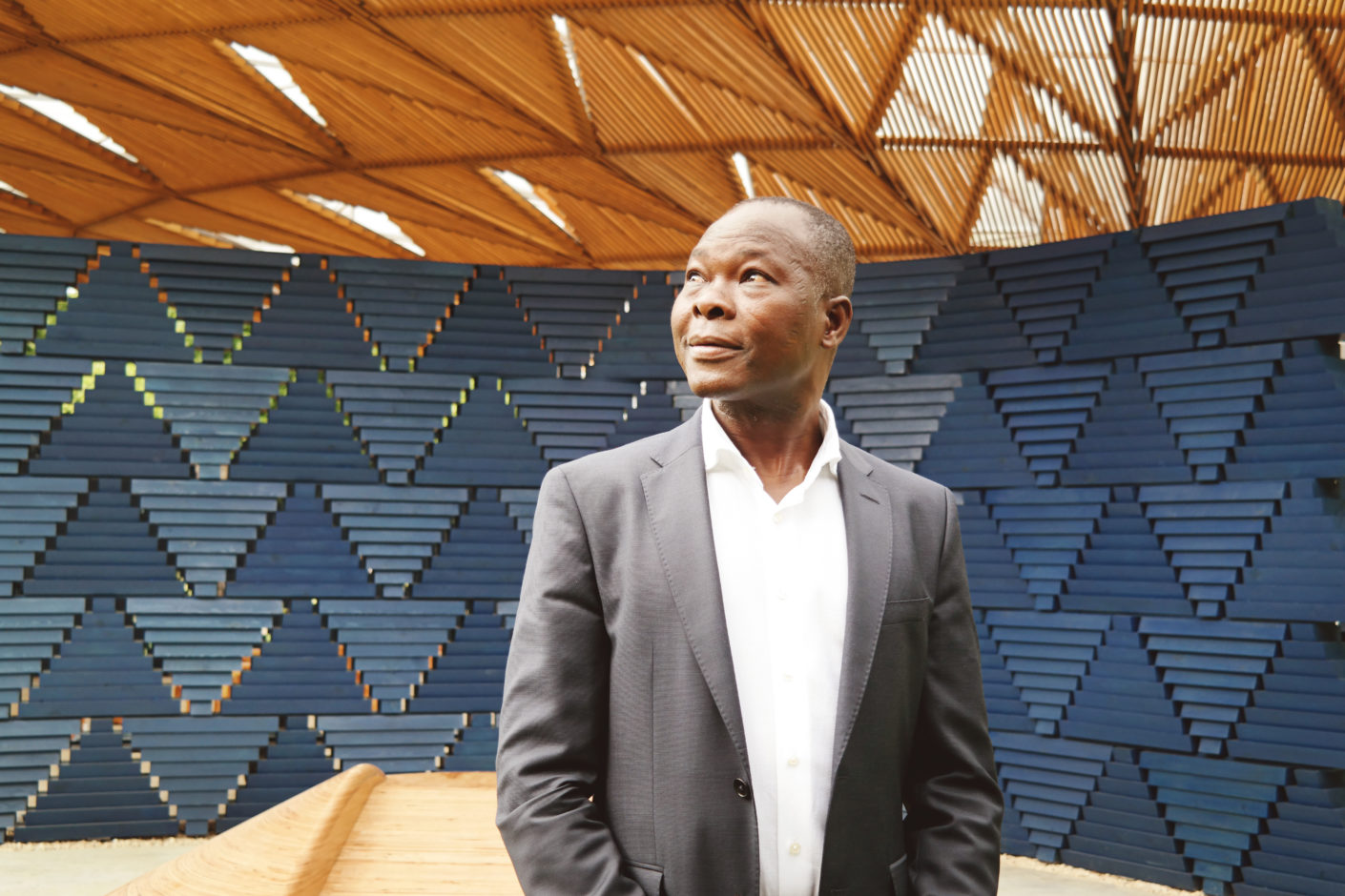 Born in Burkina Faso, Francis Kéré is the first African architect to design the pavilion.