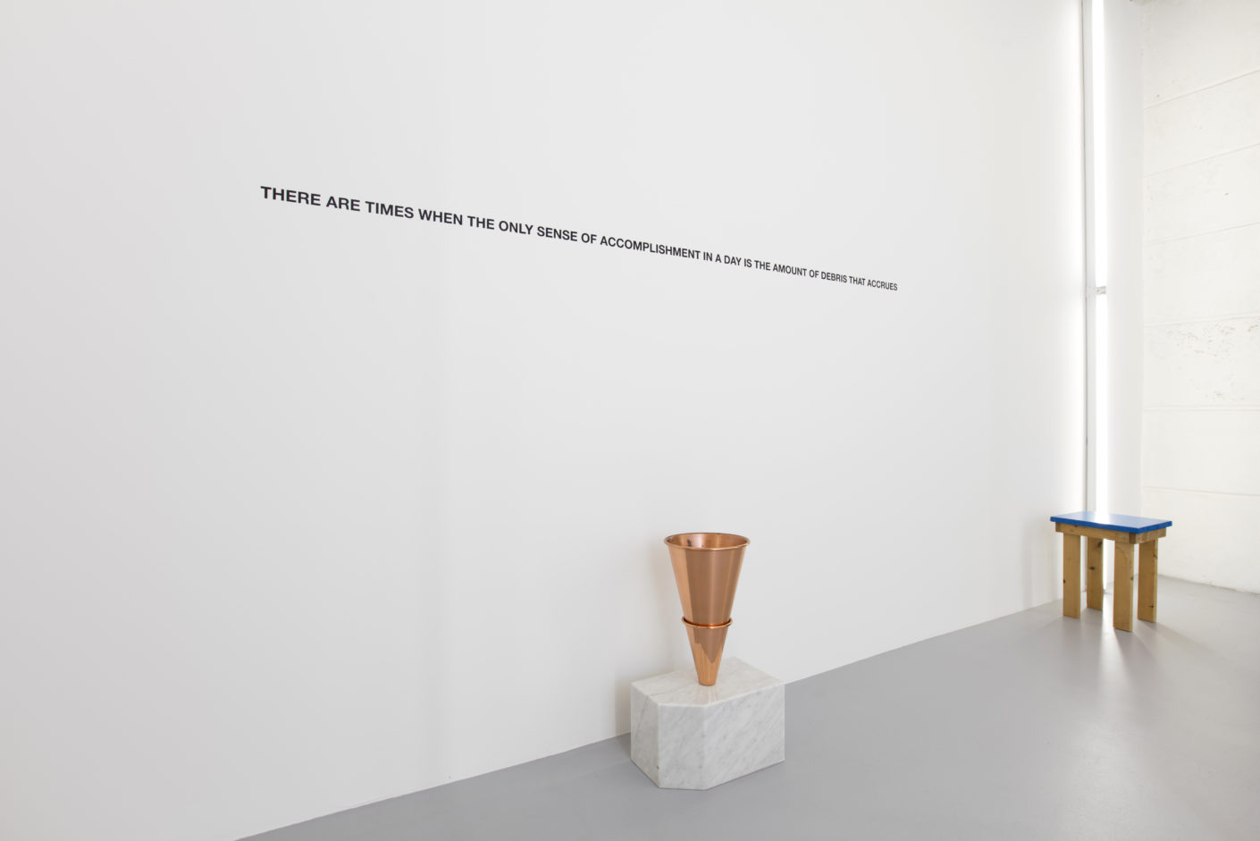 """Papierkorb """"There are times when the only sense of accomplishment in a day is the amount of debris that accrues"""" von Lawrence Weiner."""