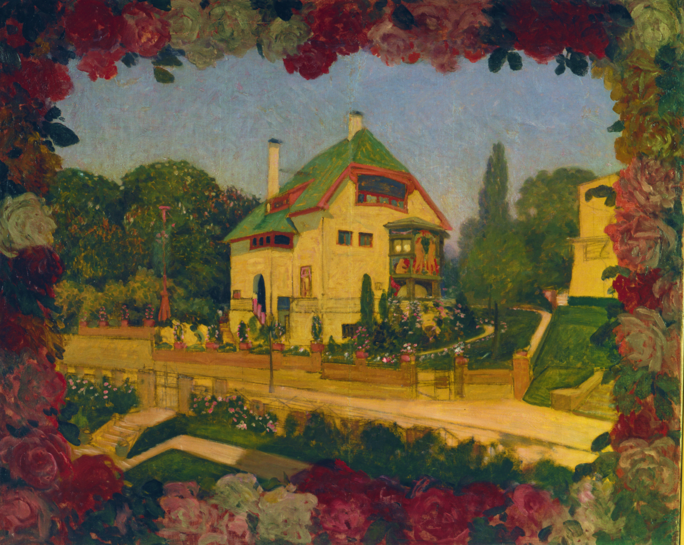 Hans Christiansen Haus In Rosen Around 1901 Stylepark