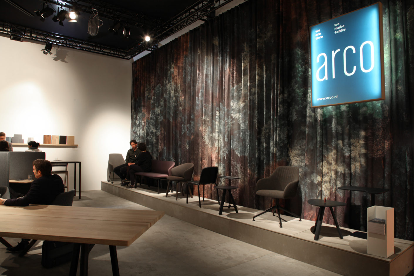 The Arco booth at the Salone del Mobile in Milan.