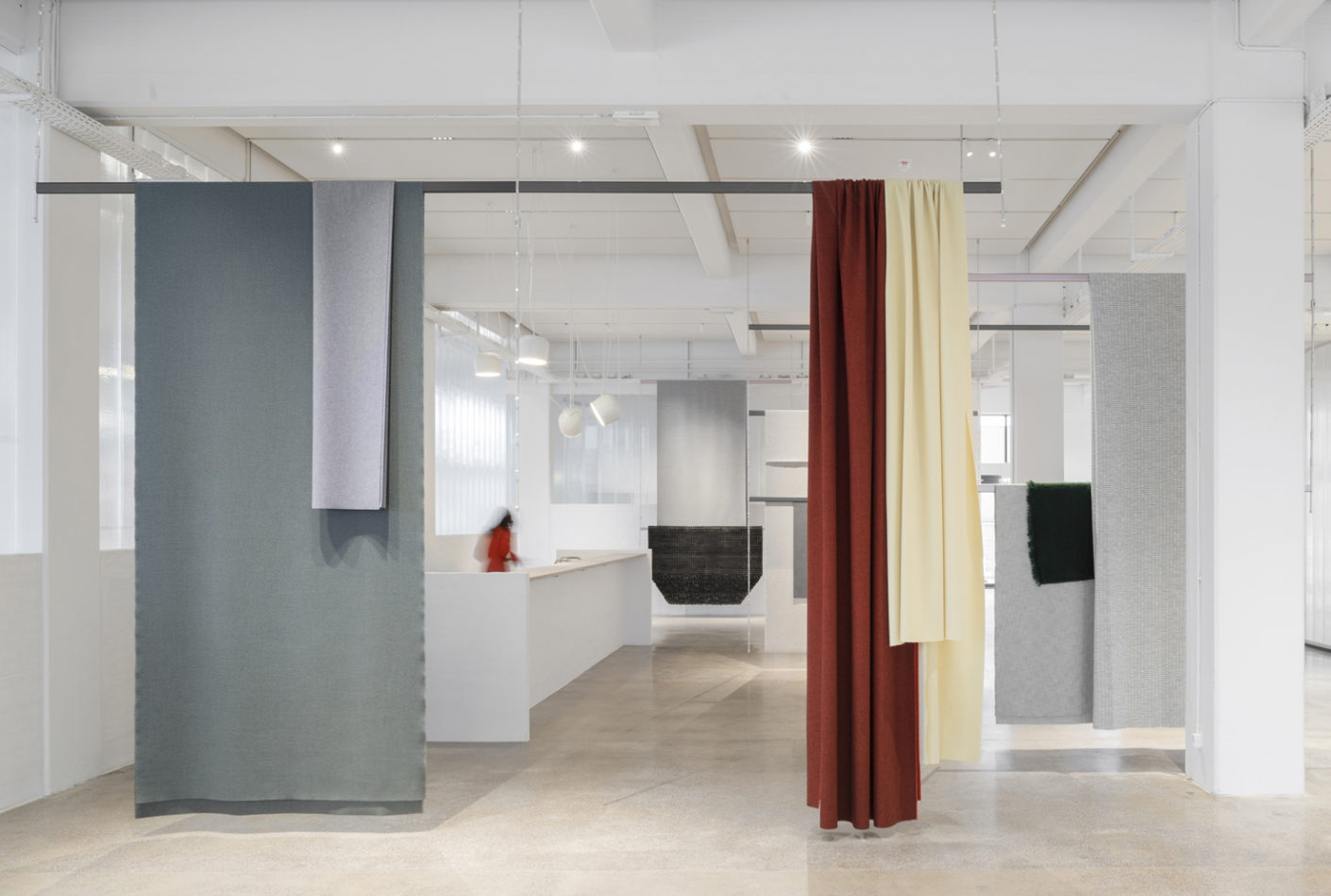 """""""Our new showroom is a symbol of the journey we have been on during this period"""" says Njusja de Gier, Vice President Branding & Communication of Kvadrat."""