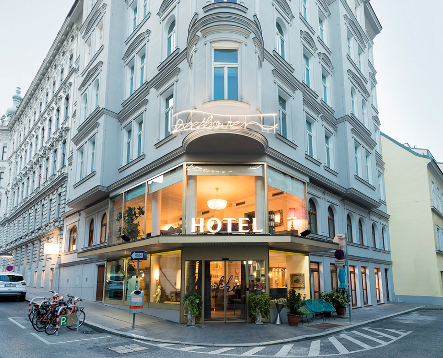 "Located centrally between Vienna's Naschmarkt and the Secession Building, the four-star ""Das Beethoven"" has been transformed into a charming boutique hotel by the interior designers at Quas."
