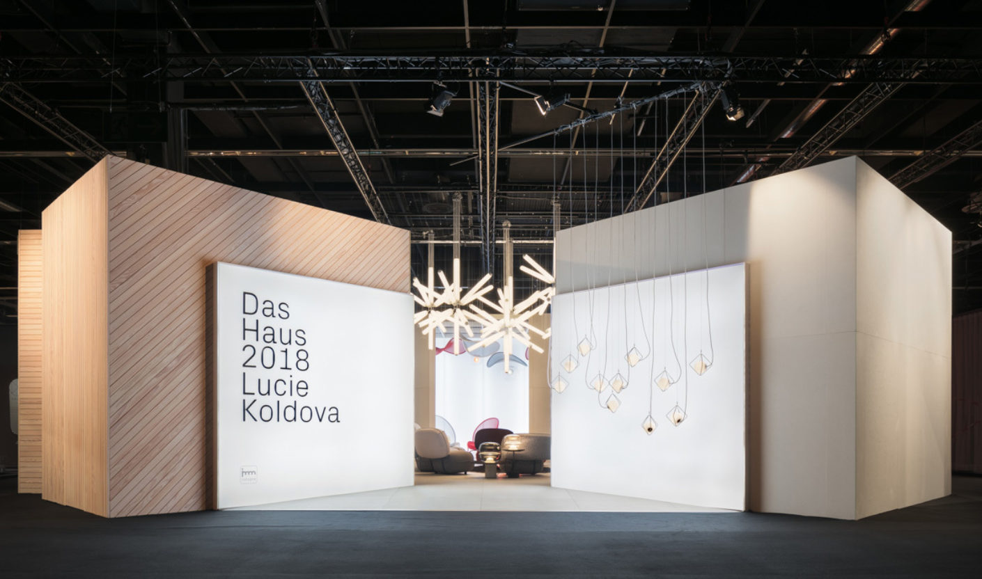 "Czech designer Lucie Koldova was invited to this year's imm cologne to present her vision for future living in the form of her own ""The House"" installation – across a total of 180 square meters."