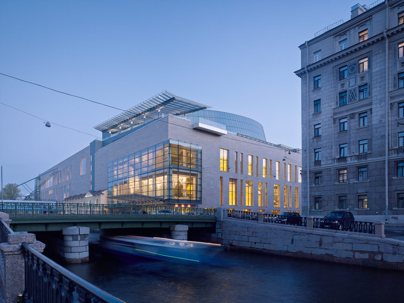 "The ten-story new build for the Mariinsky Theater, affectionately known as ""Mariinsky II"", is located on the Kryukov Canal directly opposite the old theater, which dates back to 1860."