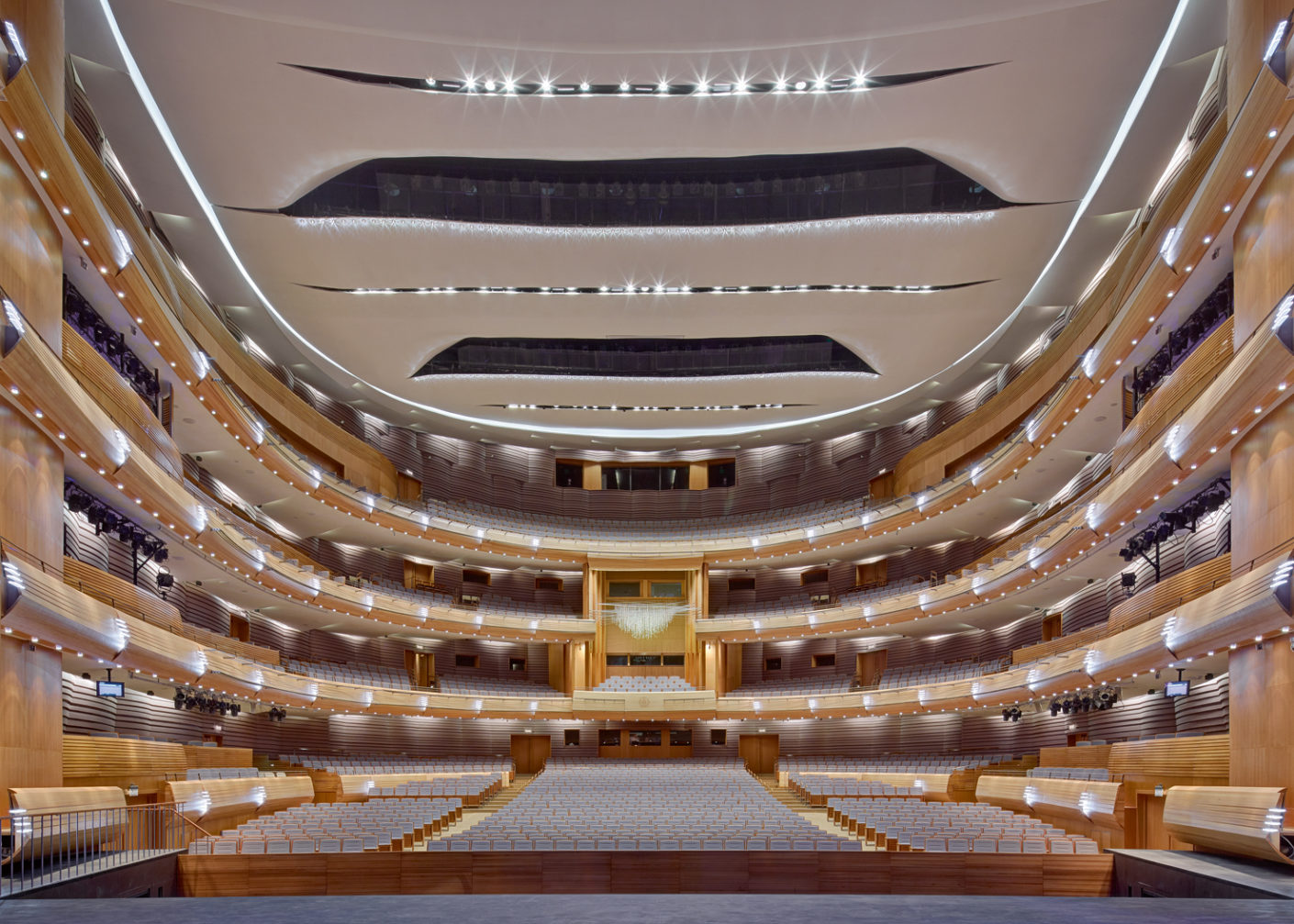 The auditorium with its classic horseshoe shape boasts outstanding acoustics.