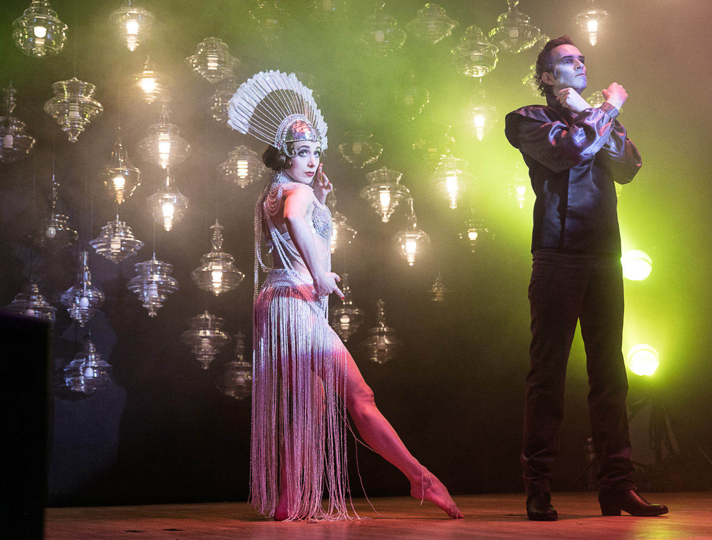 """Burlesque show with chandeliers from the """"Neverending Glory"""" collection"""