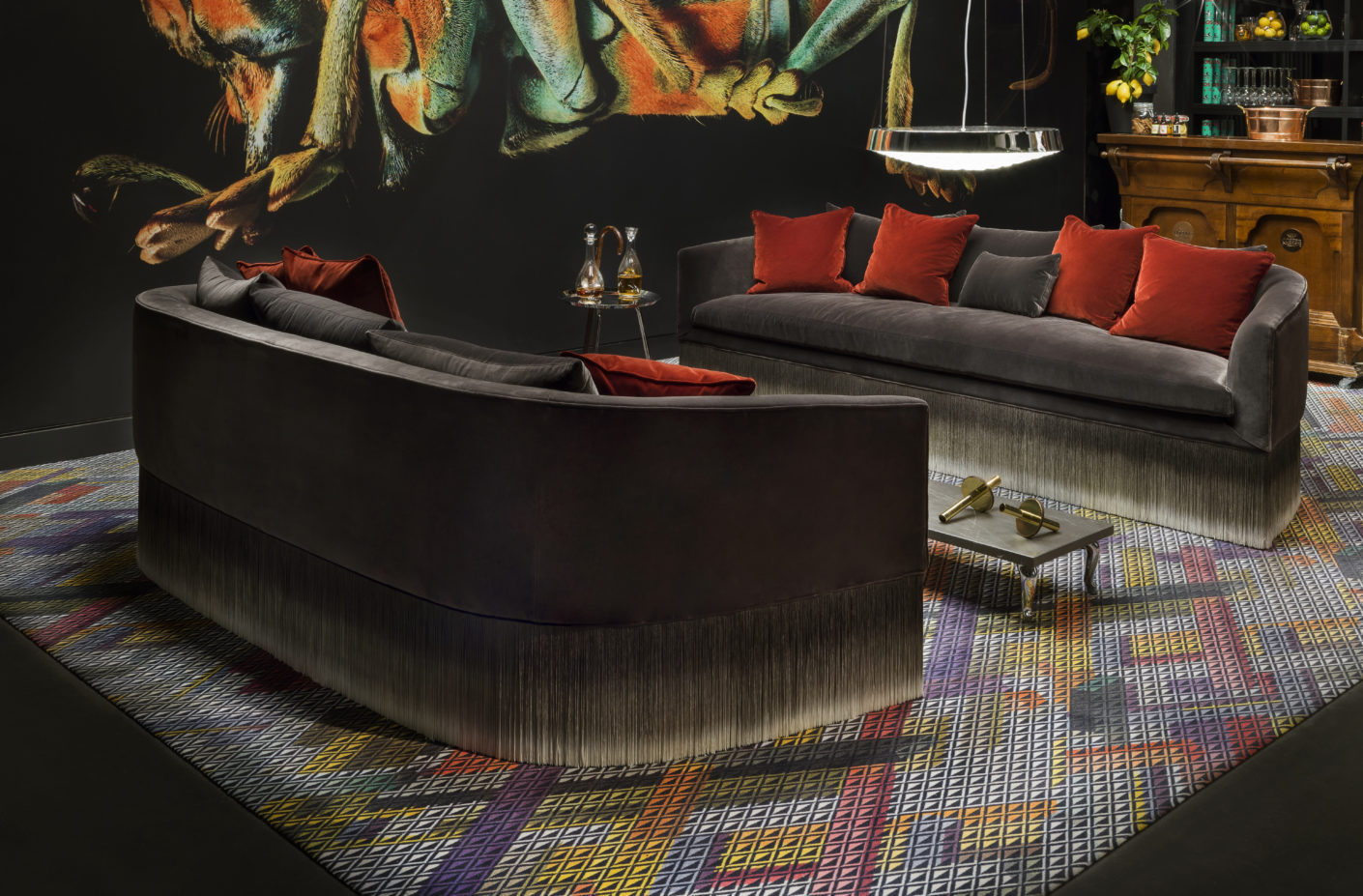 "Ombre look: The sofa ""Amami"" by Lorenza Bozzoli for Moooi sets on fringes."