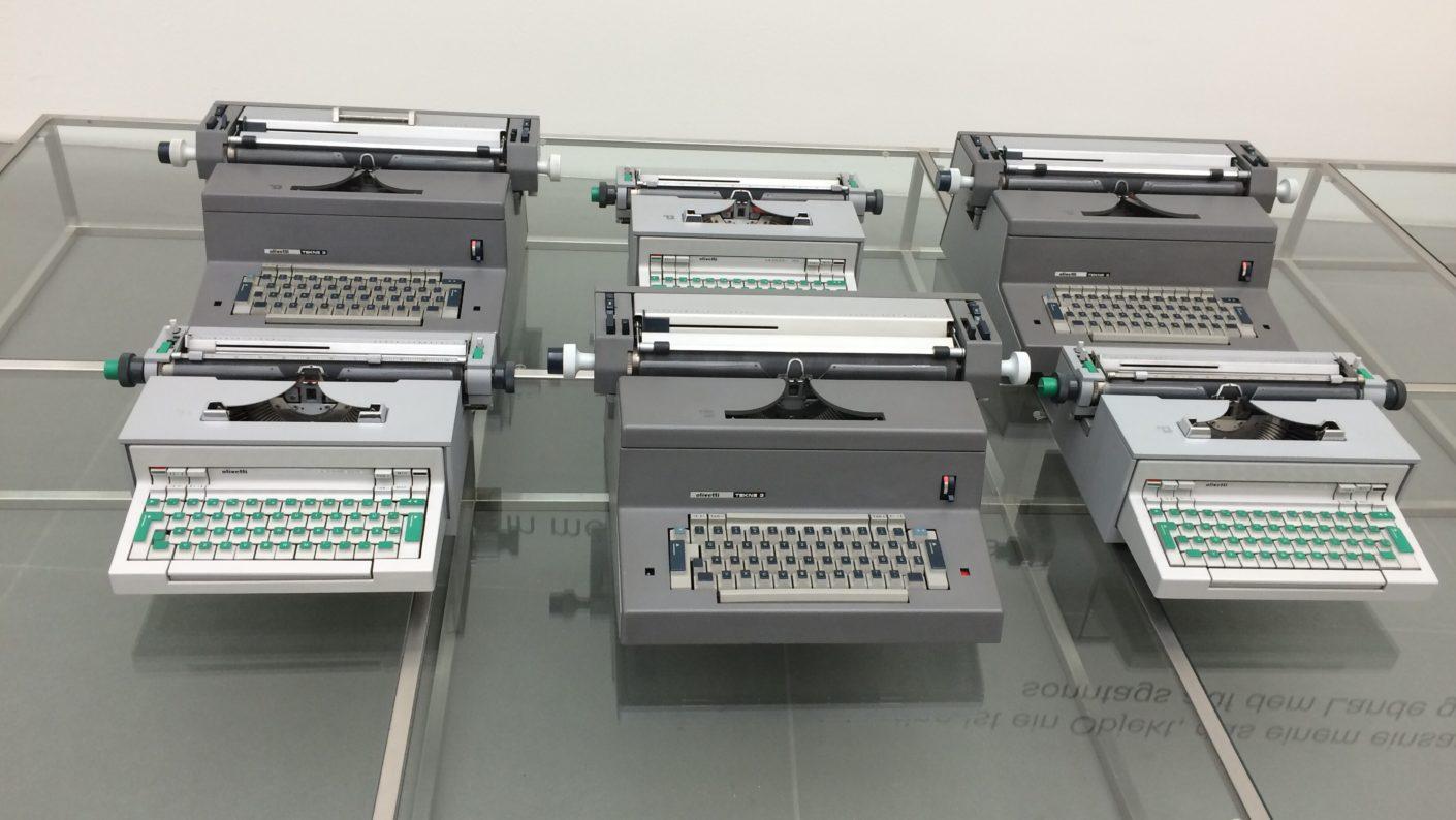 Schreibmaschinen im Olivetti Museum