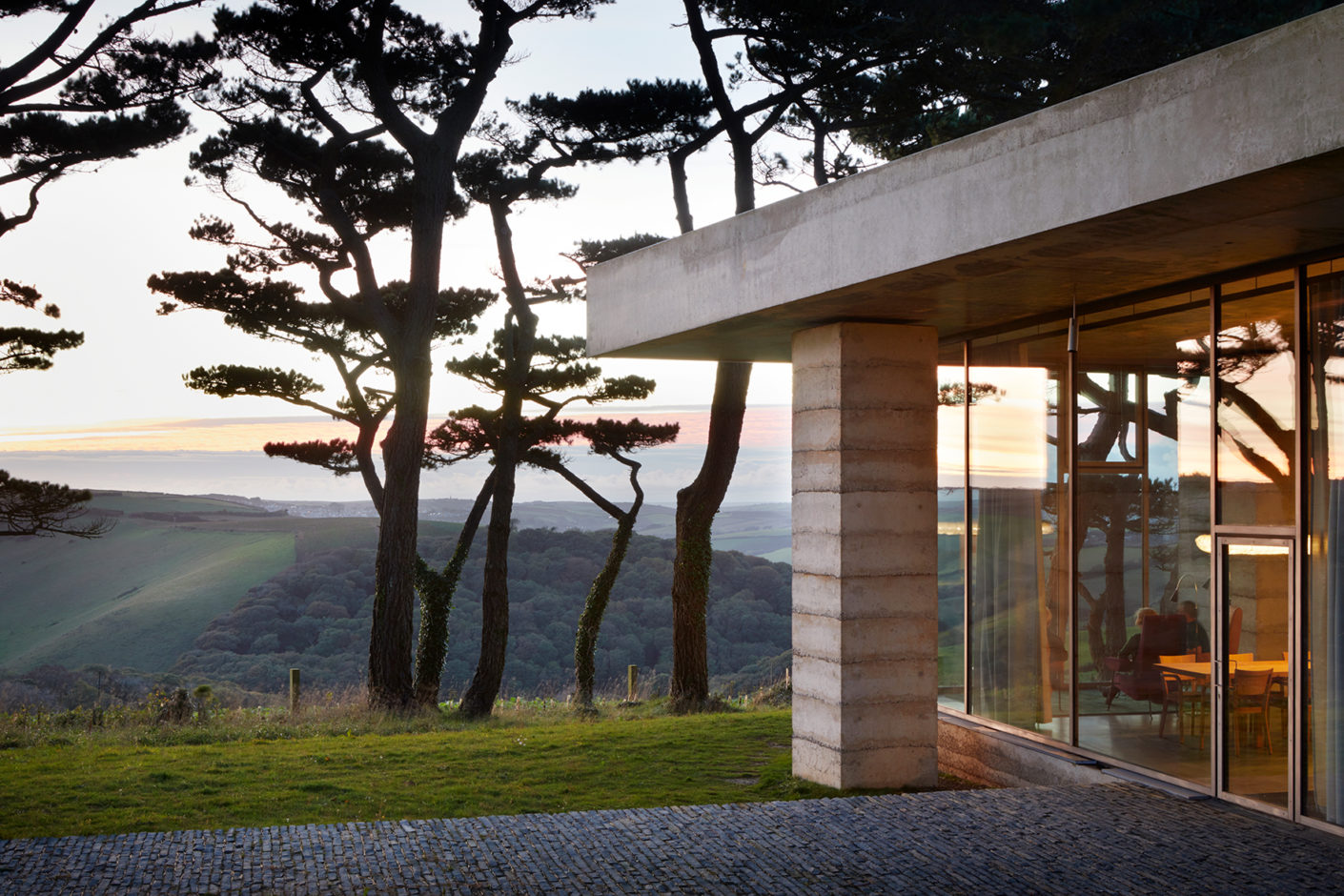 Large windows allow precisely calculated views of nature.