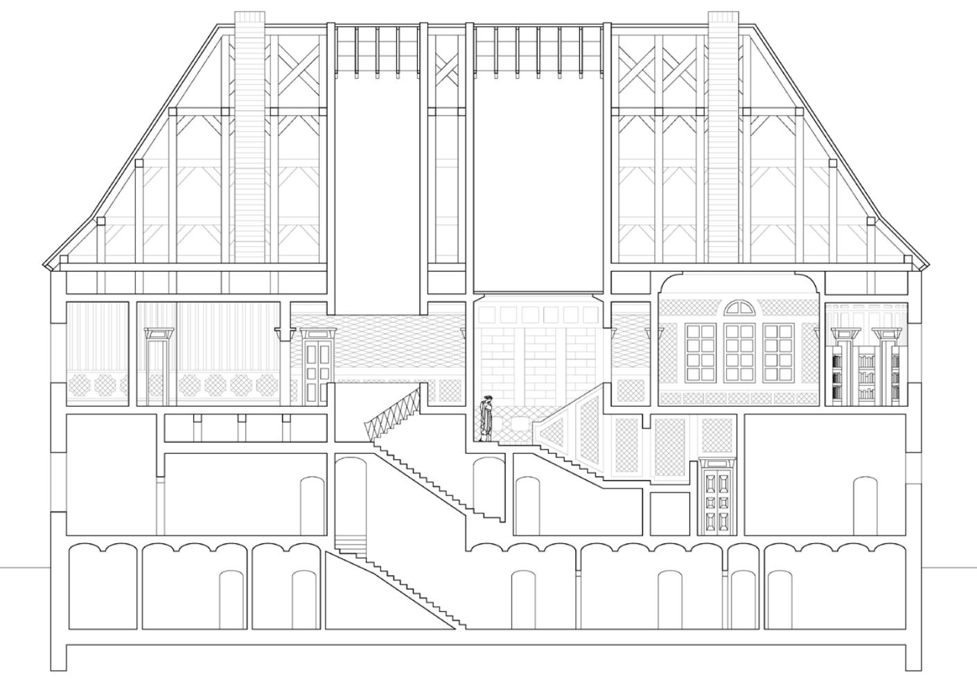 Rekonstruktion Rosenhaus, Adalbert Stifter, Nachsommer, Uwe Bresan