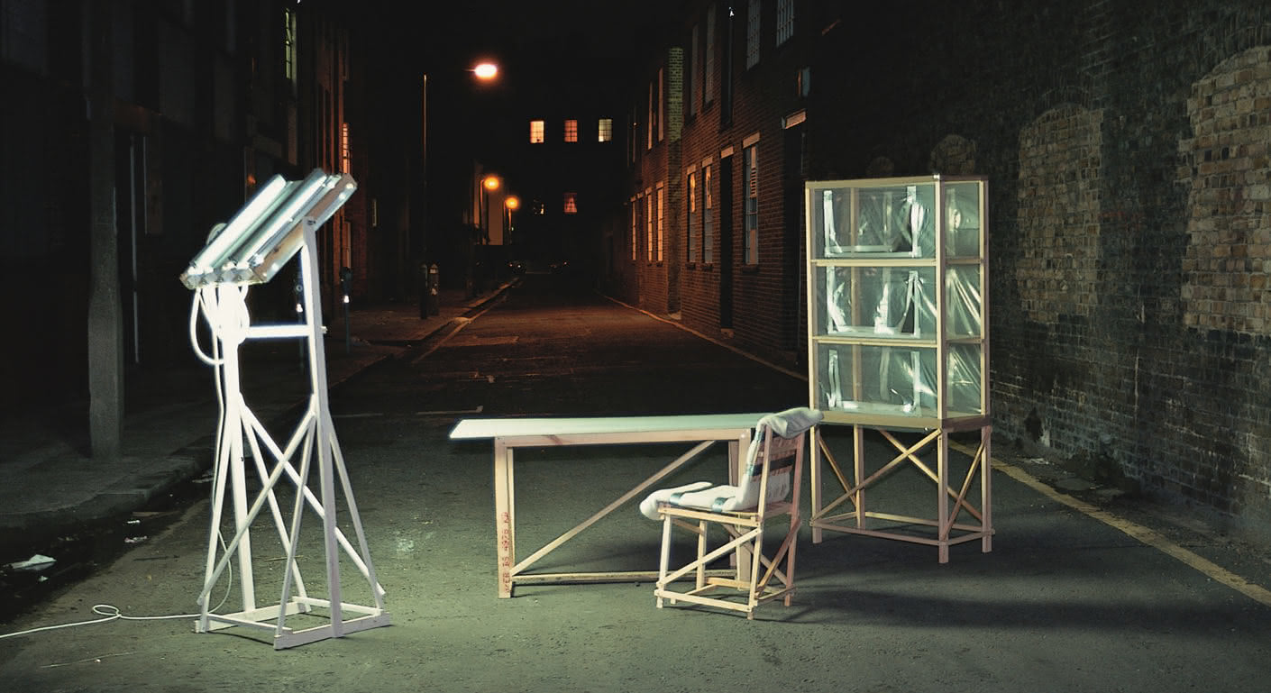 """Rough and Ready"": In the nineties, the designer created plywood as the counterpart to the perfect forms of the furniture on the Salone del Mobile."