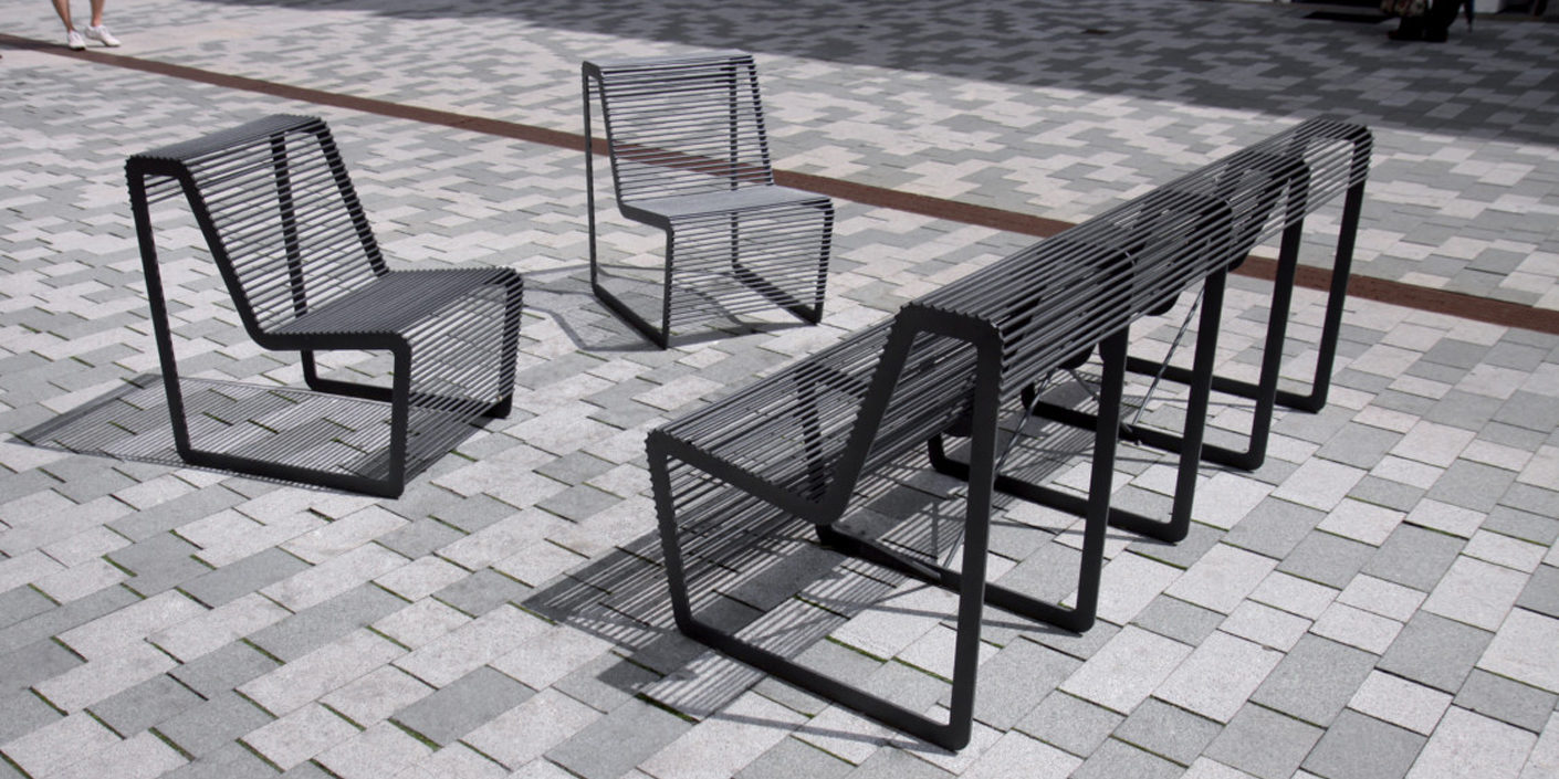 Photo Gallery: Urban furniture for sitting and relaxing