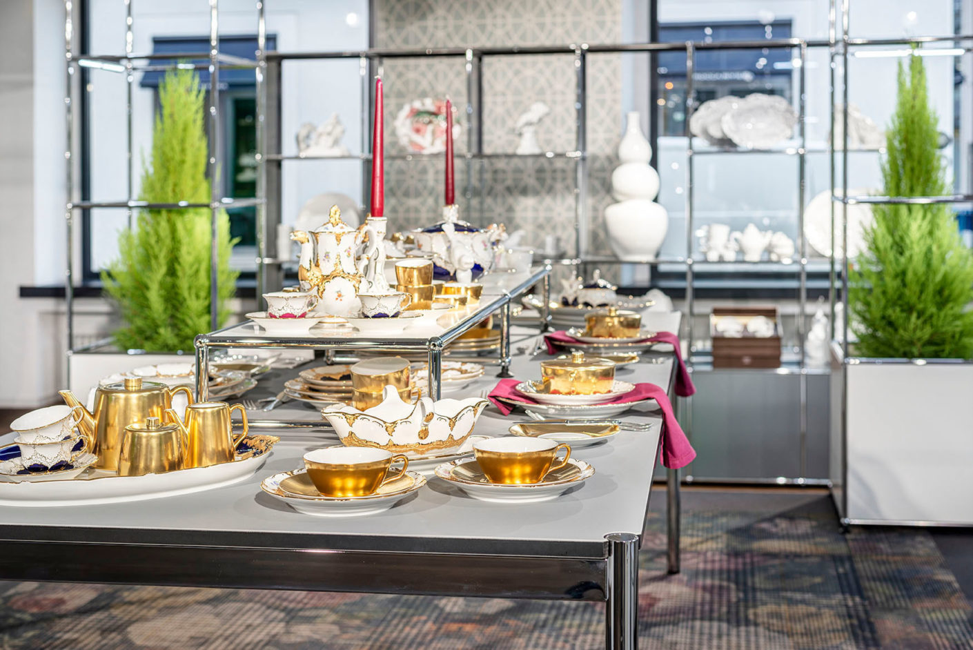 Table delights: Meissen Porcelain Manufactory is a guest at the USM Showroom in Munich.