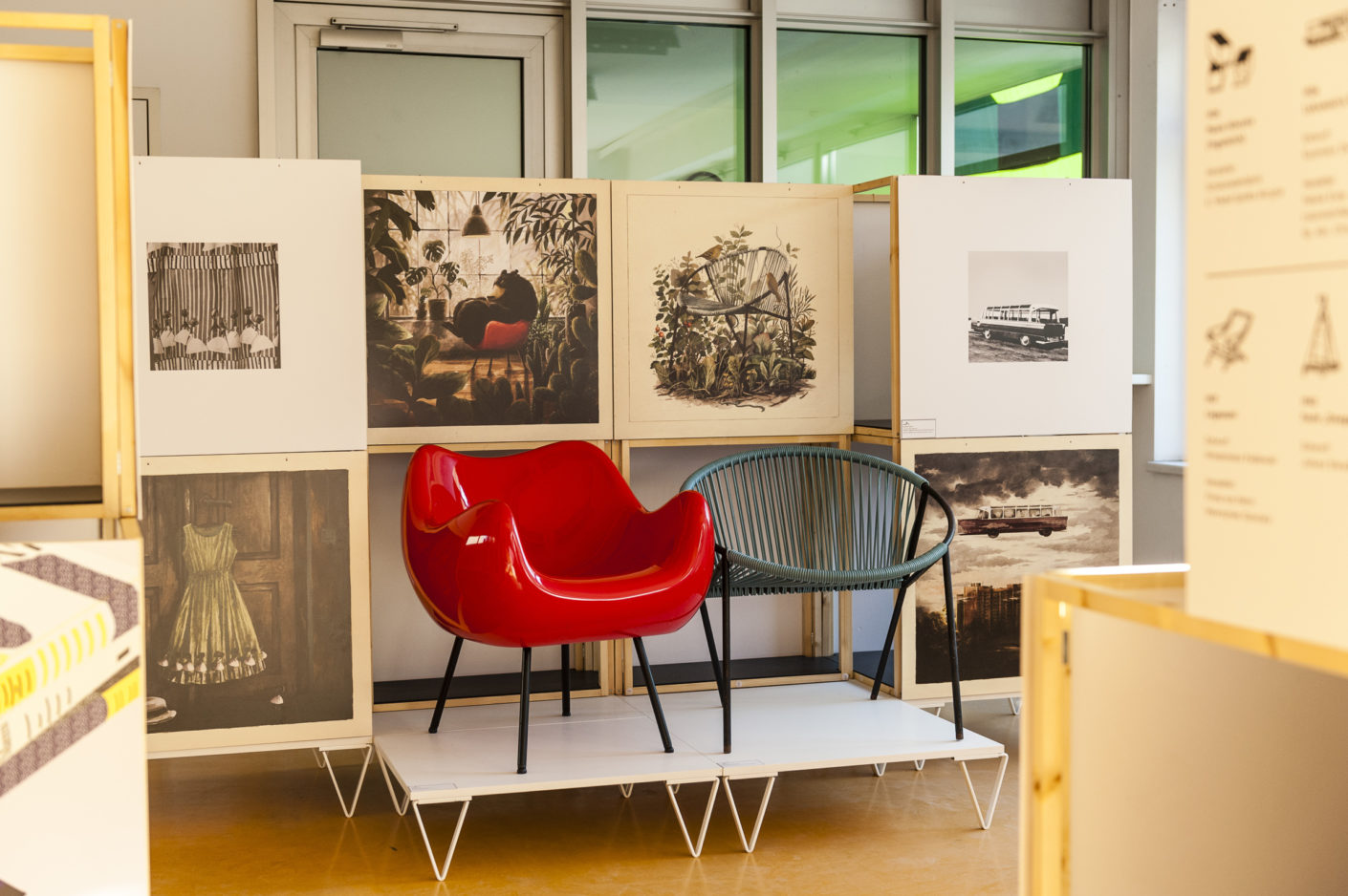 """The host country Poland presented itself with the exhibition """"The ABCs of Polish Design"""" by the Adam Mickiewicz Institute."""