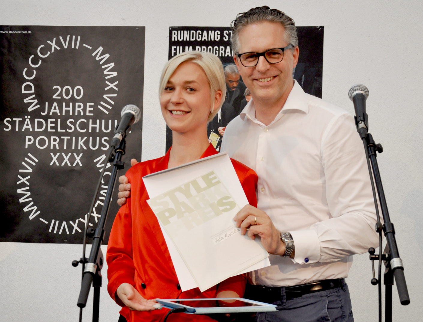 Stylepark donate an award at Rundgang at Staedelschule