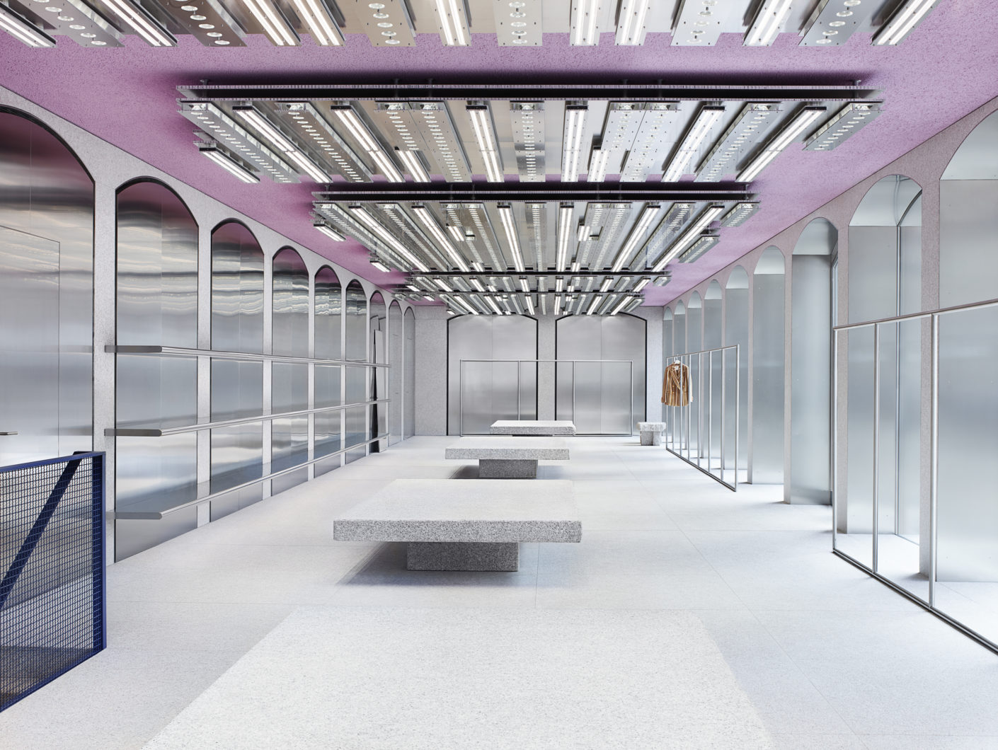 The new signature store design of fashion label Acne Studios