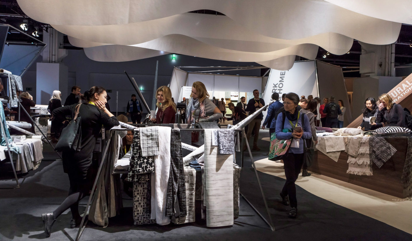 "A bit like a rummage table: The presentation of the fabrics in the theme areas of ""Explorations"" was unfortunately not particularly appealing."