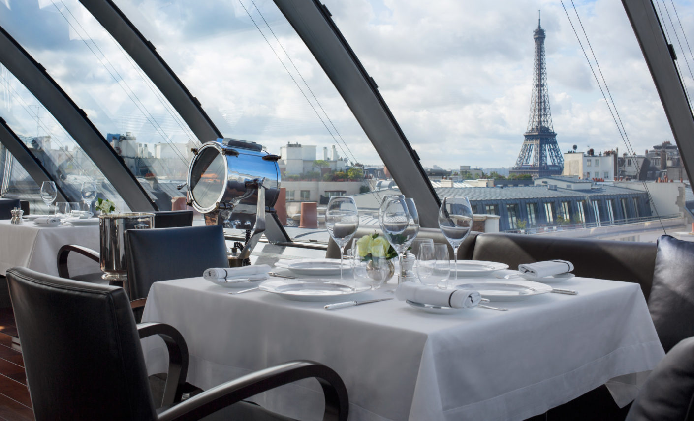 The Grand Hotel offers a panoramic view of the local sights in the French capital.