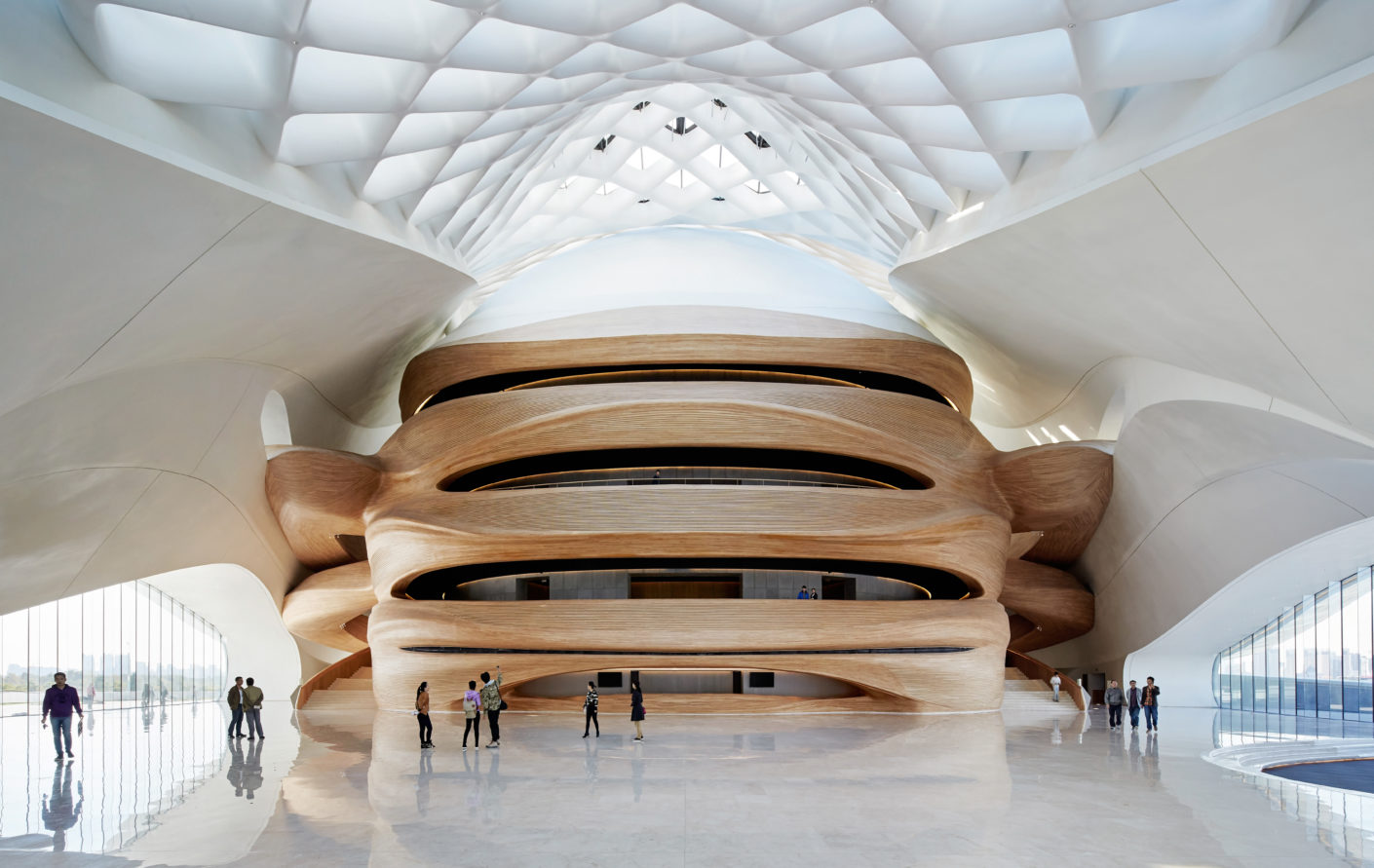 Harbin Opera House, Northern China, designed by MAD Architects, Interior, photography by Hufton+Crow