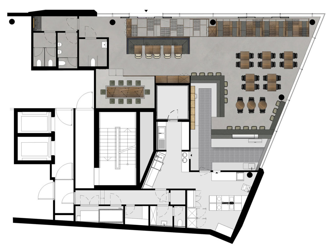 Floorplan Restaurant Enso Sushi and Grill in Stuttgart