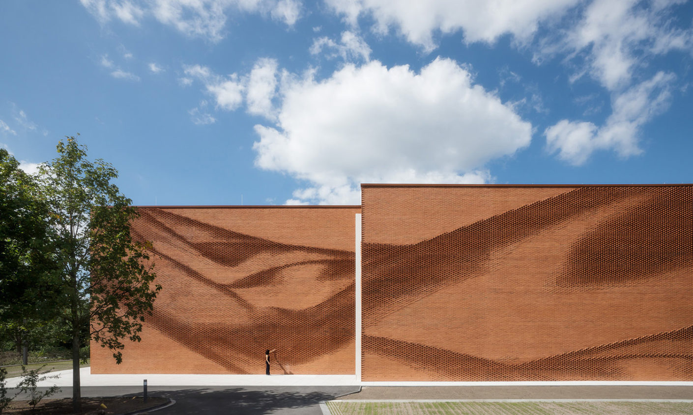 Administrative building with brick façade by behet bondzio lin architekten in Münster