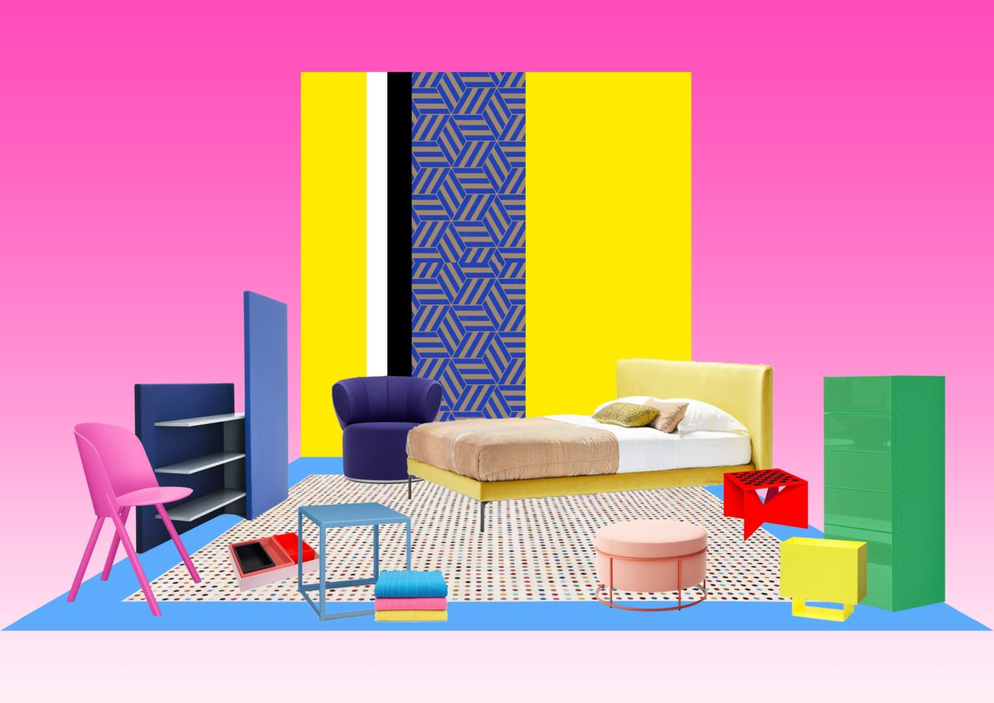 """""""Pure Atmospheres"""" is the name of the imm cologne's new trend shop window that Dick Spierenburg developed with stylist and designer Floor Knaapen - here a moodboard for one of seven productions."""
