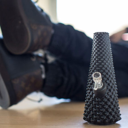 "designer bong from the 3D printer from ""Printabowl"""