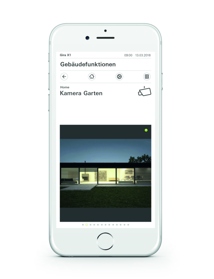 Gira X1 App Kamerasteuerung