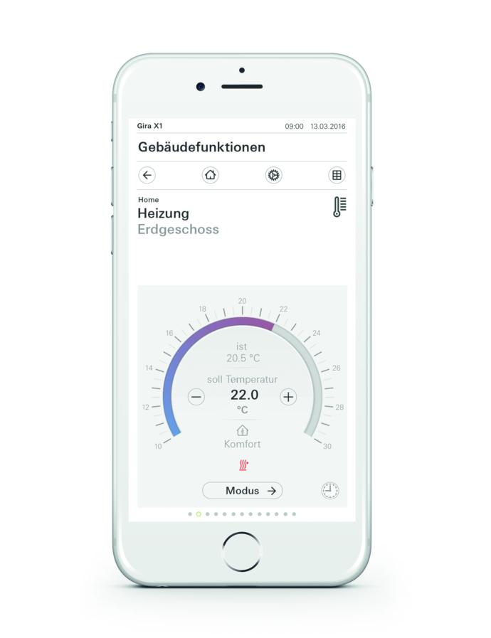 Gira X1 App Temperatursteuerung