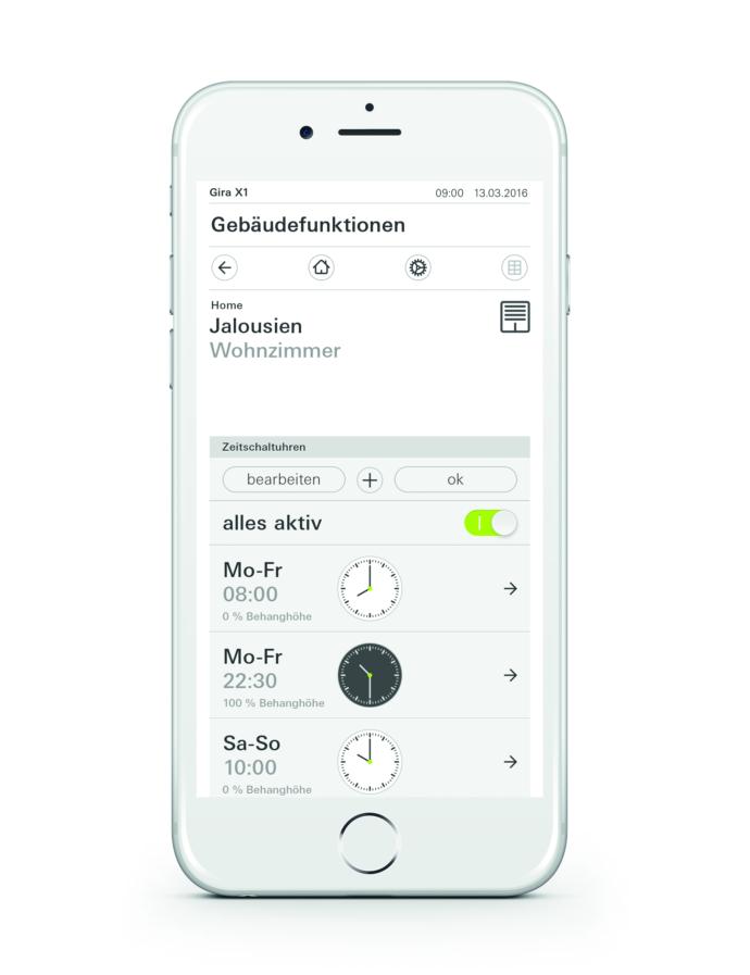 Gira X1 App Zeitschaltuhren