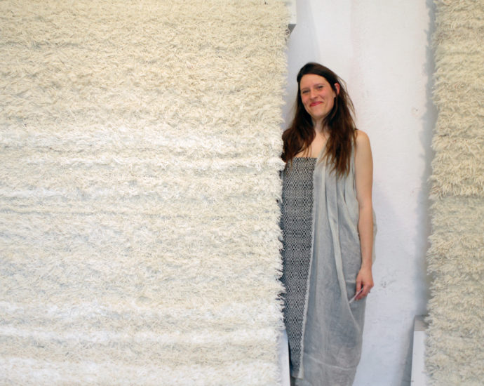 Salem van der Swaagh showed in Ventura Lambrate her first collection of carpets.