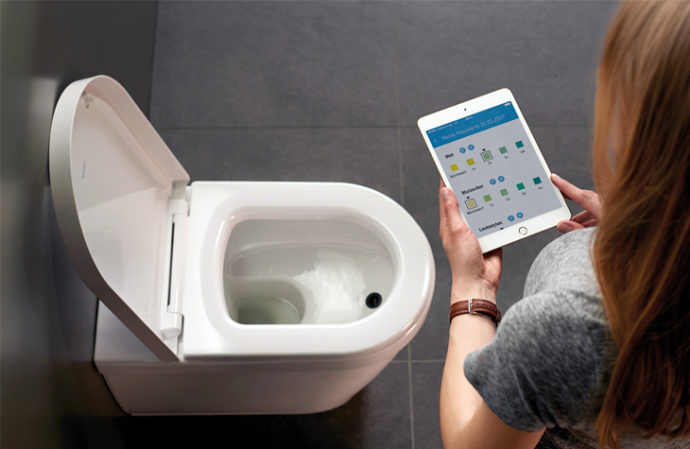 Fast processor: No need to spend time in a waiting room - Duravit's BioTracer does your health check at home in the privacy of your toilet.