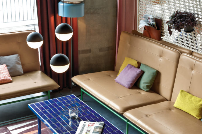 Seating furniture by Werner Aisslinger and Rolf Benz at 25hours Hotel Zürich Langstrasse