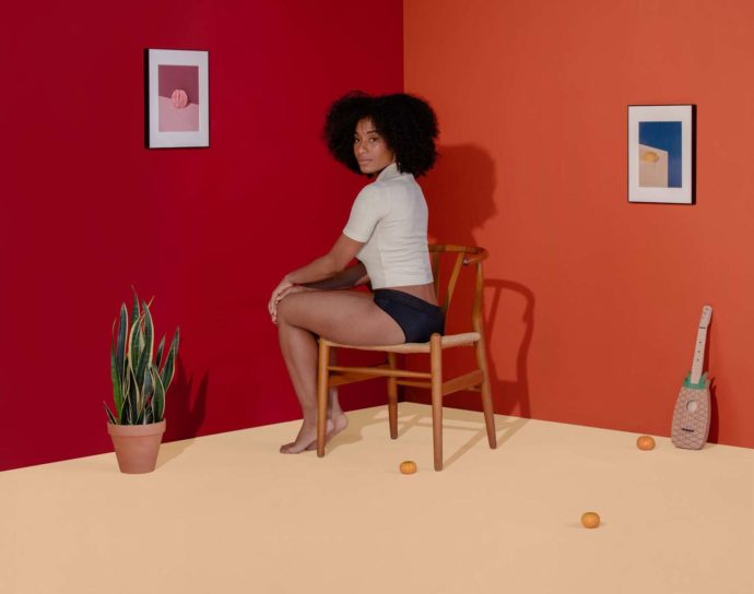 With artistic presentation, Thinx promotes its underwear collection.