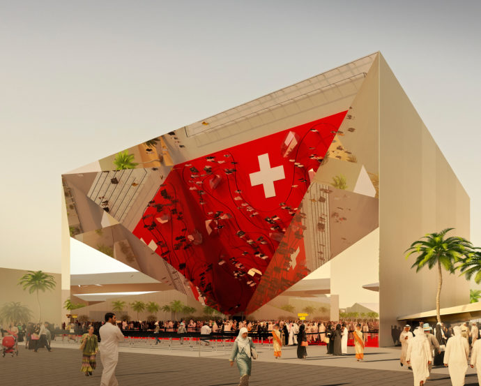 The Swiss Pavilion for Expo 2020 in Dubai by OOS.