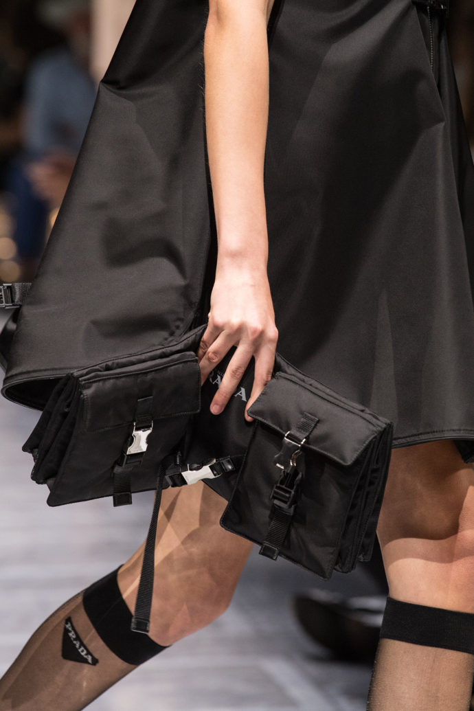 Elisabeth Diller's bag can also be worn as a piece of clothing.
